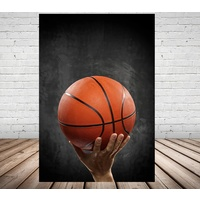 BASKETBALL PERSONALISED BIRTHDAY PARTY BANNER BACKDROP BACKGROUND
