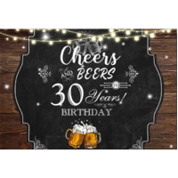 40TH FORTIETH BEER PERSONALISED BIRTHDAY PARTY BANNER BACKDROP BACKGROUND