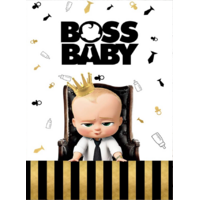 BOSS BABY TED PERSONALISED BIRTHDAY PARTY BANNER BACKDROP BACKGROUND