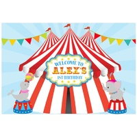 CIRCUS BIG TOP PERSONALISED BIRTHDAY PARTY BANNER BACKDROP BACKGROUND