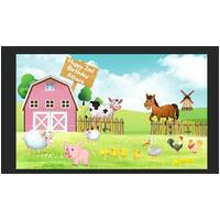 FARM BARN ANIMAL COW HORSE PIG PERSONALISED BIRTHDAY PARTY BANNER BACKDROP