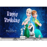 FROZEN ANNA ELSA OLAF PERSONALISED BIRTHDAY PARTY BANNER BACKDROP BACKGROUND