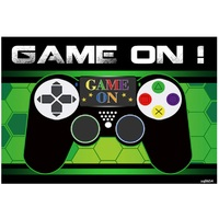 GAMING GAME CONSOLE CONTROLLER BIRTHDAY PARTY BANNER BACKDROP BACKGROUND
