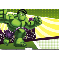 THE HULK GREEN SUPERHERO PERSONALISED BIRTHDAY PARTY BANNER BACKDROP BACKGROUND