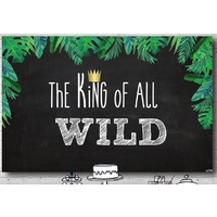 JUNGLE SAFARI ANIMAL KING WILD PERSONALISED BIRTHDAY PARTY BANNER BACKDROP