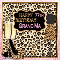 LEOPARD PRINT MILESTONE PERSONALISED BIRTHDAY PARTY BANNER BACKDROP BACKGROUND