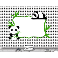 PANDA BEAR BAMBOO PERSONALISED BABY SHOWER BANNER BACKDROP BACKGROUND