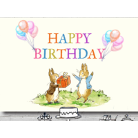 PETER RABBIT PERSONALISED BAPTISM BIRTHDAY PARTY BANNER BACKDROP BACKGROUND