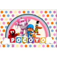 POCOYO ELLY PATO PERSONALISED BIRTHDAY PARTY BANNER BACKDROP BACKGROUND