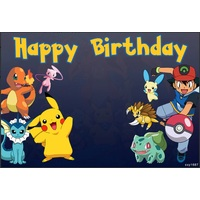 POKEMON ASH PIKACHU PERSONALISED BIRTHDAY PARTY BANNER BACKDROP BACKGROUND