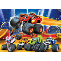MONSTER TRUCK PERSONALISED BIRTHDAY PARTY BANNER BACKDROP BACKGROUND